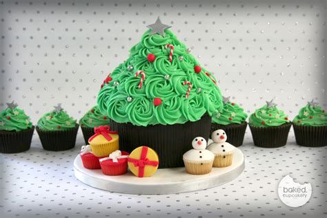 giant christmas tree cupcake baked