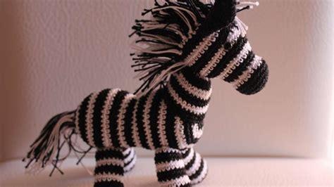 free knitting pattern zebra toy how to crochet a cute toy zebra diy crafts tutorial