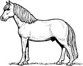 pictures of horses to color free coloring pages