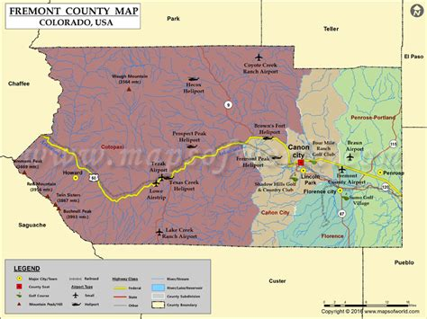 Fremont County Records Fremont County Colorado Map My