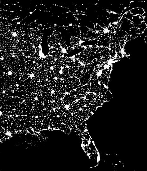 light pollution map washington what type of lighting emits the least amount of light