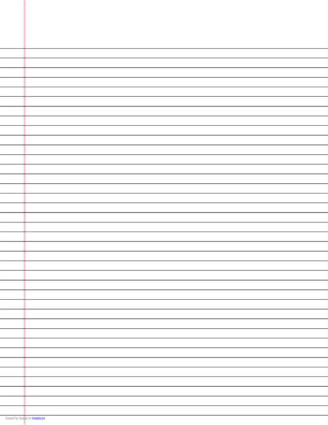 printable lined paper landscape orientation narrow ruled lined paper on ledger sized paper in