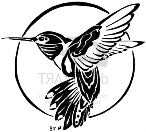 tribal bird tattoo meaning tribal hummingbird design