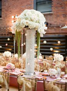 jeweled vases reception centerpieces receptions