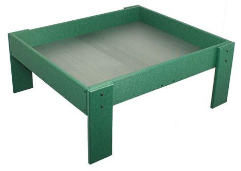 amish poly wood bird feeder ground tray