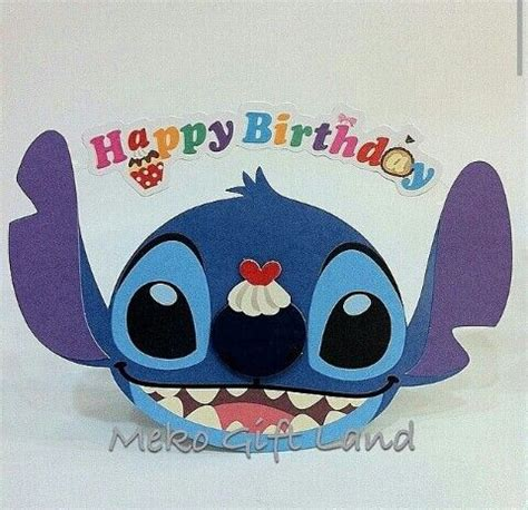 stitches birthday happy birthday stitch card lilo stitch