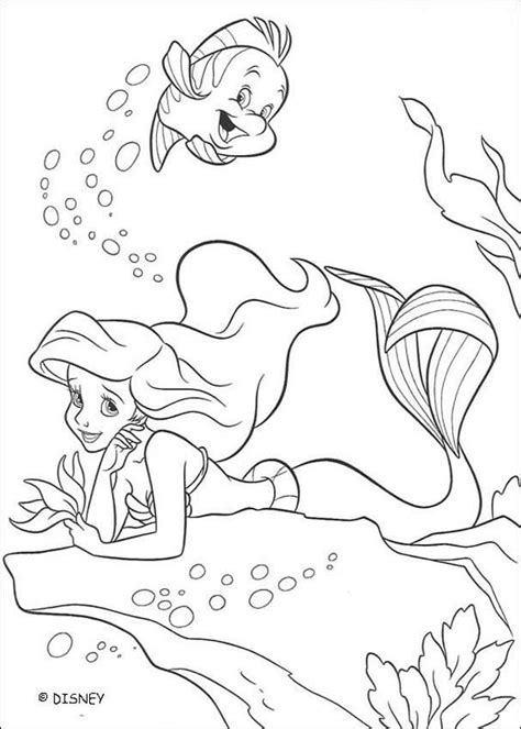 ariel coloring pages for adults the little mermaid coloring pages flounder and ariel