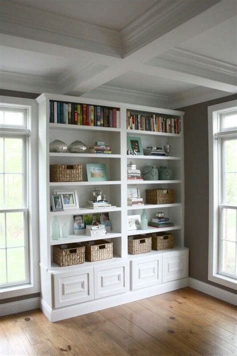How To Make Bookcases Look Built In How To Build A Bookcase Add Matching Moulding To The