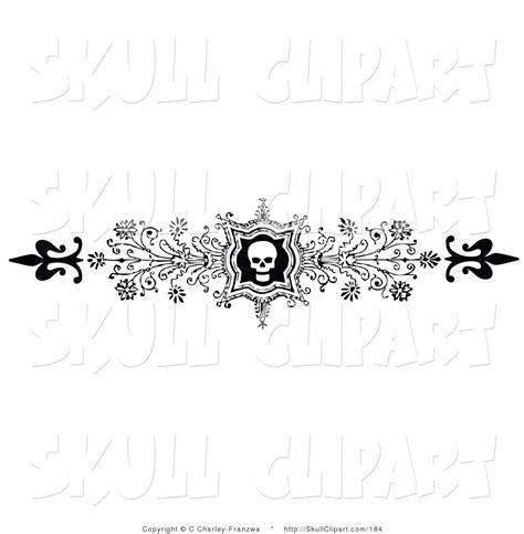 header design black and white free flower flourish clipart 53