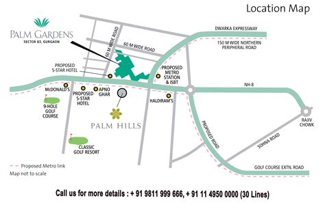 Address Map Emaar Mgf Palm Garden Sector 83 Gurgaon Location Map 91 9811 999 666