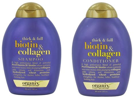 organix ogx thick full biotin collagen shoo conditioner amazon com ogx thick and full biotin and collagen root