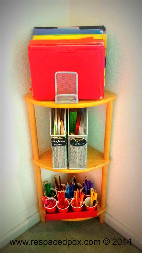easy cheap diy way to organize kids supplies