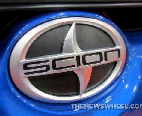 the badge are the sleek scion symbol name more