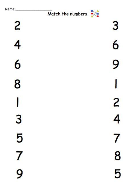 matching numbers worksheet number names worksheets 187 number matching worksheet free printable worksheets for pre school