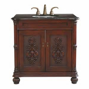 bellaterra home antique 36 single sink bathroom vanity