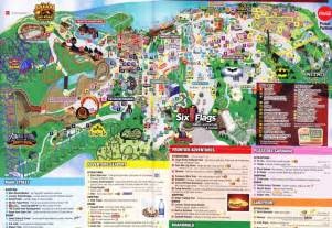 map of six flags six flags great adventure 2015 park map