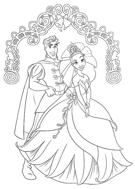 coloring page of princess and the frog princess the frog coloring pages