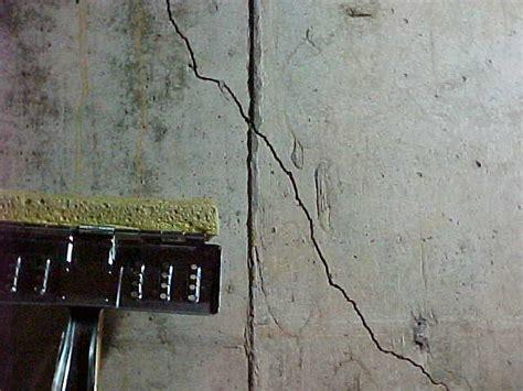 basement wall cracks common foundation wall