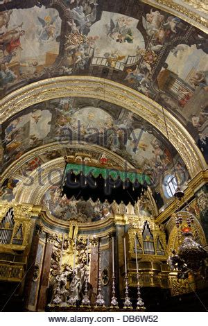 really rich decoration of baroque architecture at st cathedral of st john the baptist 17th century greek