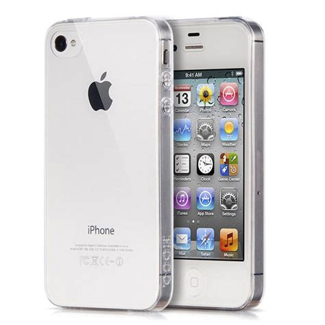 a iphone 4 portefeuille clear for iphone 4 s 4s transparent back soft silicone tpu rubber back