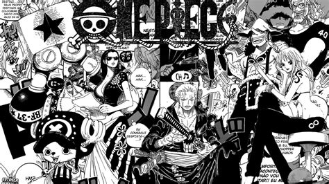 wallpaper one piece hitam putih 1366x768 background manga wallpaper black and white