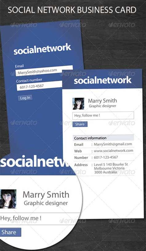 free networking card templates 10 free and premium business card templates