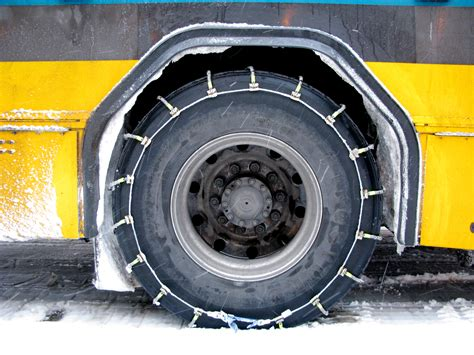 snow chains  bus tire flickr photo sharing