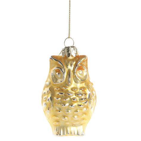 gold mercury glass owl ornament christmas ornaments