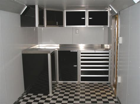 trailer kitchen cabinets photos of trailer vehicle lightweight aluminum cabinets