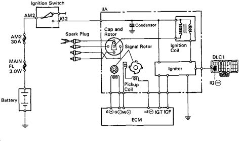 toyota distributor wiring diagram typical ignition system