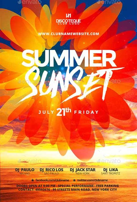 More Great Summer Flyer Designs Design Clubflyers Magazine Articles On Design Summer Poster Template