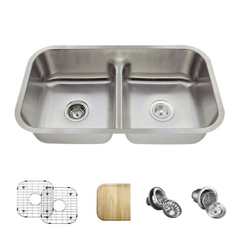 kitchen sinks direct mr direct all in one undermount stainless steel 33 in