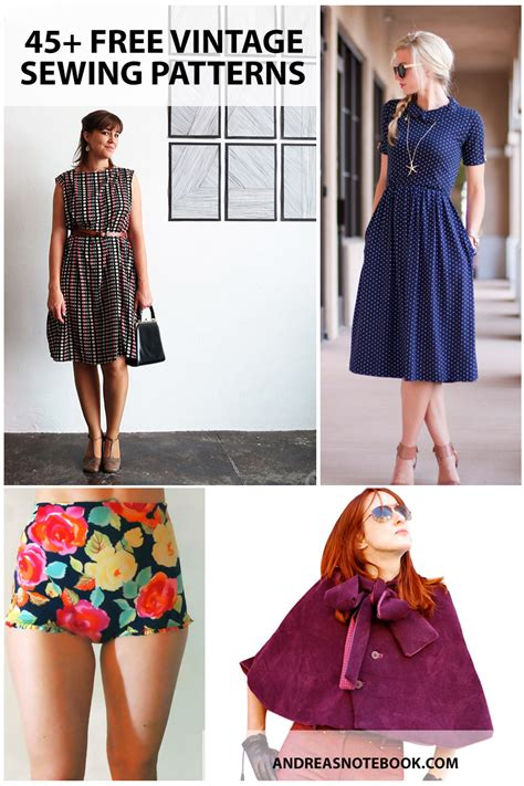 clothes pattern website 45 free vintage sewing patterns