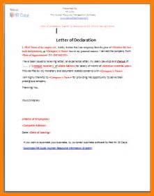5 declaration letter sample hvac resumed