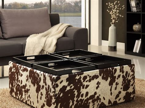 Astounding Ikea Cowhide Ottoman Contemporary Best