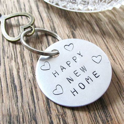 house warming new home key ring by edamay