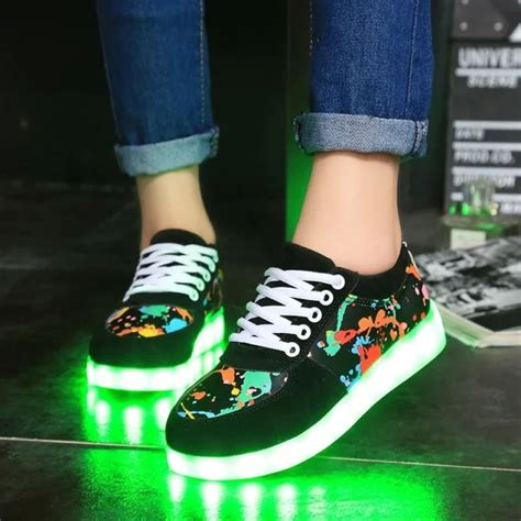 hfs x 180 breathable led light up made shoes dress shoes