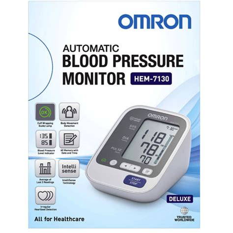 omron hem7130 deluxe arm blood pressure monitor