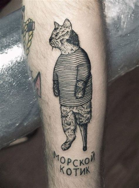 Cat Tattoo Russian Prison | sailor cat tattoo tattoo notebook pinterest pirates