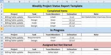 monthly status report template project management create weekly project status report template excel excel