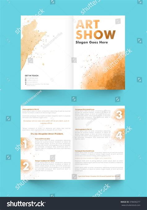 2 page flyer template creative abstract two page brochure template stock vector