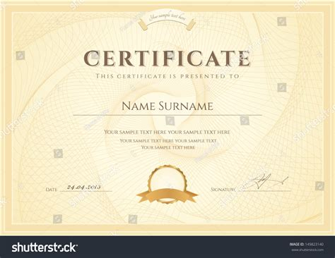 design a certificate of completion certificate diploma completion design template background