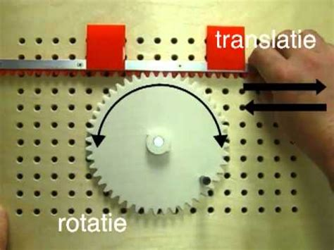 Rack In Translation Tandwielen Tandheugel Rotatie Translatie Technologisch