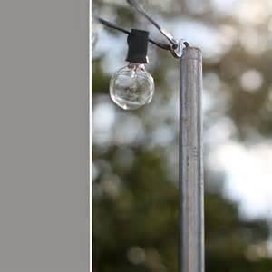 pole for hanging lights triyae backyard string lights pole various design
