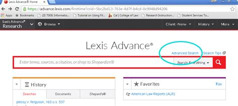 luno library advanced search on lexis advance