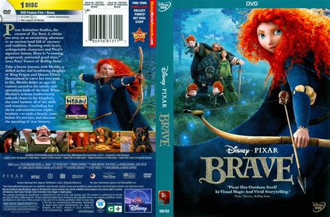 dvd slipcover brave 2012 r1 cartoon dvd cd label dvd cover front