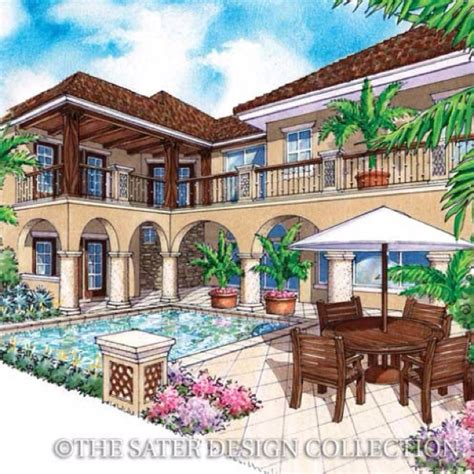 sater design s 6787 salcito home plan from our courtyard