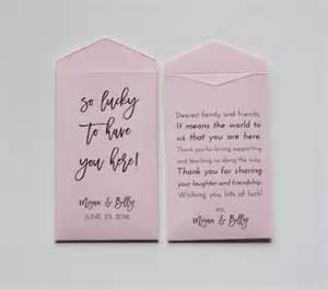 Lottery Ticket Wedding Favor by Custom Light Pink Lottery Ticket Wedding Favor Packet