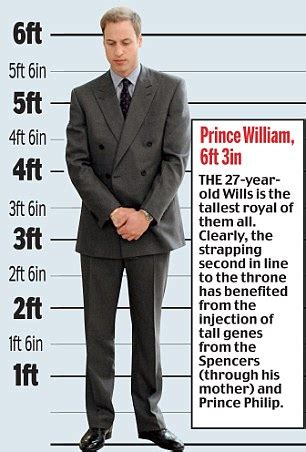 actor prince height why at 6ft 3in prince william towers over his titchy