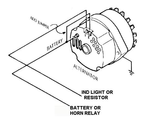 internally regulated alternator w external regulator